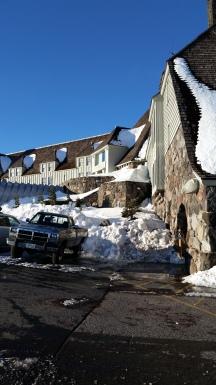 movie set, snow, portland